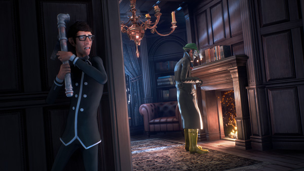 "A picture of Arthur from ""We Happy Few."""