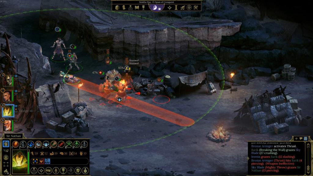 Tyranny's Battle System screenshot.